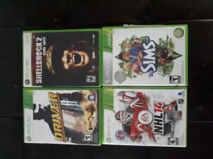 4 XBOX 360 GAMES FOR SALE!!! $10 each or all 4 for only $35!!!