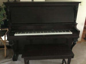 Mason and Risch piano with bench
