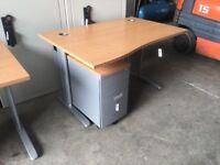 Oak wave desk