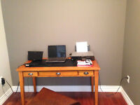 Awesome Antique Wood and Leather Desk