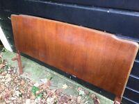1950's oak veneer double bed