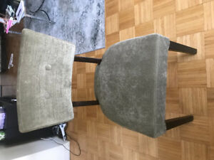 4 dining chairs -pier1 green velvet perfect condition