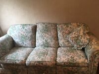 Three seater and matching armchair