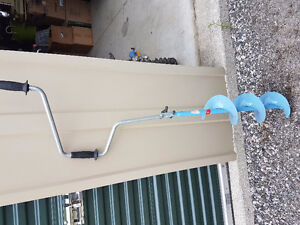 Manual ice auger $30