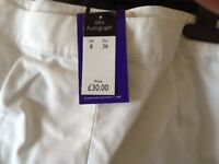 Ex M&S white shorts NEW sizes 8, 10 and 12 RRP £30