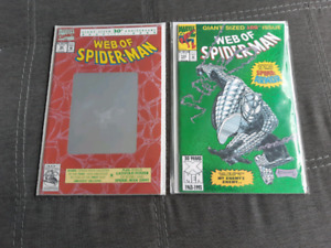 Web of Spiderman #90 and 100. 1st app Spider-Armor