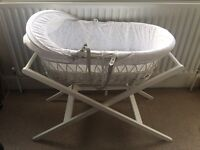 John Lewis Cot (Moses Basket) + Stand