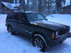 1997 Jeep Cherokee Green Hatchback