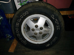 Micheln mud and snow rims / tires for Jeep yj Strathcona County Edmonton Area image 1