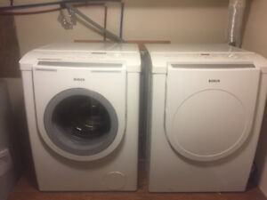 High Efficiency Bosch Washer and Dryer: Large full size pair