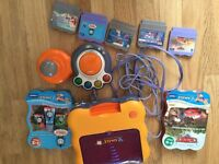Vtech smile TV game console and 5 games for sale