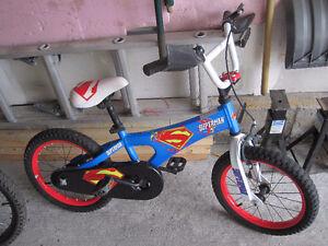 "Superman boys bike bicycle front hand brake 16"" wheels"