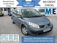 **£40 A WEEK** Renault Scenic 1.5dCi Expression 5Dr Diesel MPV, EW CD RCL AC