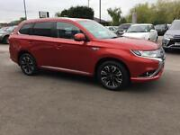 2016 Mitsubishi Outlander 2.0 PHEV 4h 5dr Auto Petrol/PlugIn Elec Hybrid red Aut