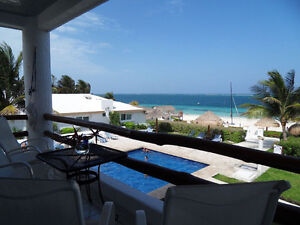 2 bed on the beach in Puerto Morelos