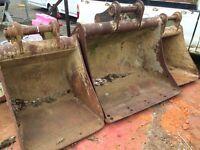JCB Sumitomo digger buckets for 5/7 ton machine quick hitch pins x3