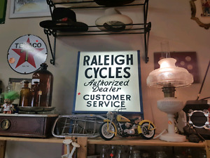VINTAGE RALEIGH BICYCLE LIGHTED SIGN