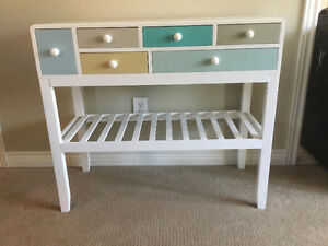 White accent table-with drawers