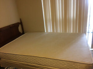Mattress Box spring, and bed stand and dresser London Ontario image 2