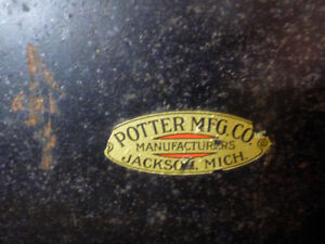 POTTER MANUFACTURING COMPANY STEEL TRUNK