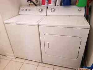 4 électroménagers whirlpool frigo poêle laveuse sécheuse