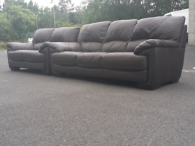 Brown Leather 2&3 Seater Sofas