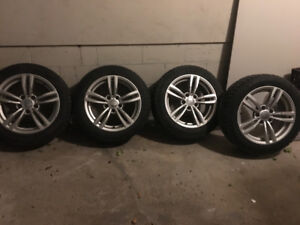 225/50R17- Barely used winter tires and rims from BMW X1!