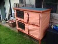 2 rabbit hutches for sale