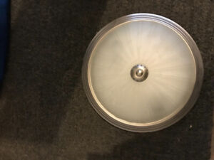 Flush mount nickel ceiling light fixture