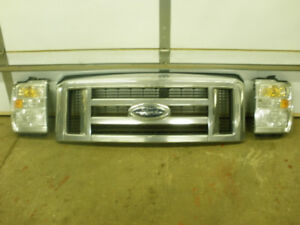 2009 Ford Econoline Van Chrome Grill and Headlights