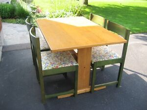 Scandanavian Teak table and 4 chairs
