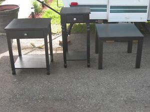 Assorted black accent tables Gatineau Ottawa / Gatineau Area image 1