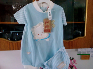 NEW EASTER DESIGN SLEEPER OR BLUE SUNSUIT