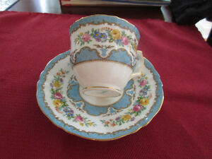 Stunning Staffordshire England Bone Chine Cup &Saucer