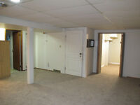 large basement suite with full size appliances