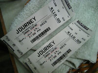 Two Journey Floor Tickets. Row 16, seats 615 and 616