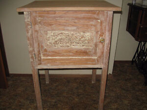 Antique Humidor-Type Wooden Cabinet