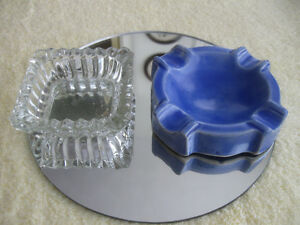 PAIR of COLORFUL INDIVIDUAL ASH TRAYS