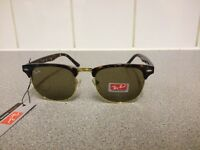 Ray Ban Clubmaster sunglasses RB3016 (tortoiseshell brown frame/brown lens)