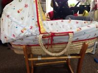 Mothercare Moses Basket & Rocking Stand