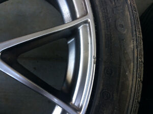 Subaru STI,18 inch Raijin rims with 245/40r18 hankook tires. Strathcona County Edmonton Area image 3