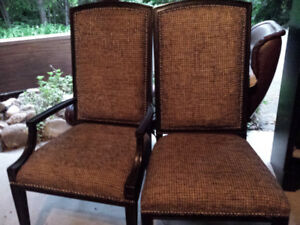 Six beautiful high end chairs for sale.