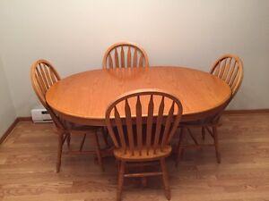 Oak dining table set