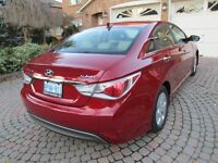 2013 Hyundai Sonata Hybrid tan leather Sedan