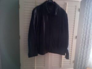 Men's New Marc New York Black Leather Jacket