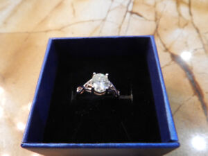 Beautiful Oval 2.25ct Genuine Charles & Colvard Moissanite Ring