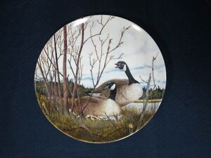 """Collector Plate: """"Nesting"""" (Canada Geese)"""