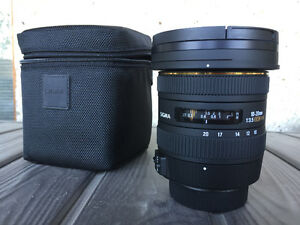 SIGMA 10-20 mm f/3.5 lens for NIKON - HALF PRICE (BARELY USED)!