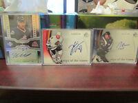 Set of signed hockey cards.