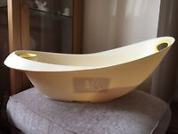 Baby bath (mothercare) with top and tail bowl